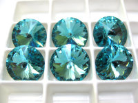 Swarovski 1122 Rivoli 14mm - Chaton Light Turquoise 14mm